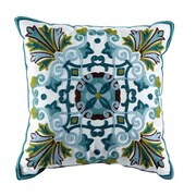 ElightHome Emerald Embroidered Cotton Throw Pillow