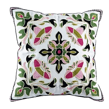 ElightHome Ava Embroidered Cotton Throw Pillow