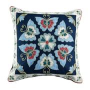 ElightHome Auburn Embroidered Cotton Throw Pillow