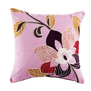 ElightHome Blossom Embroidered Cotton Throw Pillow
