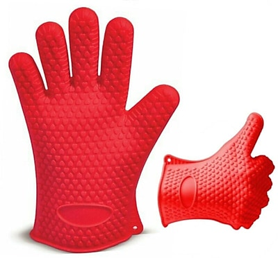 Kitch N' Wares Grill Gloves; Red WYF078279153524