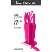 Kitch N' Wares 7 Piece Knife Set; Pink