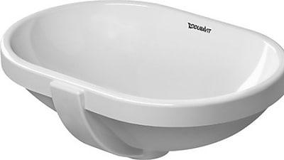 Duravit Ceramic Oval Undermount Bathroom Sink w/ Overflow