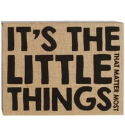 Blossom Bucket It's The Little Things Box Sign by Barbara Lloyd Textual Art