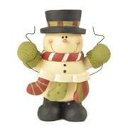 Blossom Bucket Snowman w/ Three Stockings Figurine