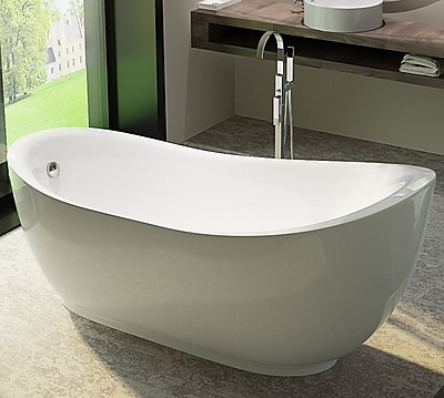 Kardiel HelixBath Cyrene 71'' x 35'' Soaking Bathtub