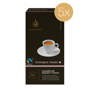 Gourmesso Coffee, Nicaragua Mezzo 5pack, 50 Nespresso compatible capsules (41404)