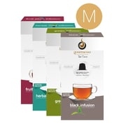 Gourmesso Coffee, Tea Bundle - Medium, 80 Nespresso compatible tea capsules (20200)