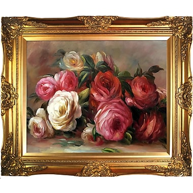 La Pastiche Discarded Roses by Pierre-Auguste Renoir Framed Painting Print