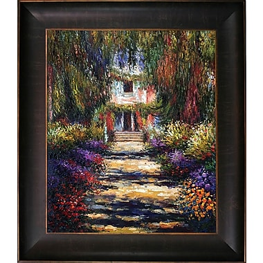 Tori Home Garden Path at Giverny by Claude Monet Framed painting
