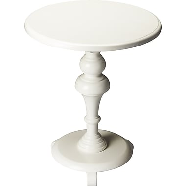 Butler Plantation End Table; Glossy White