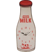 Creative Co-Op Casual Country Milk Bottle Wall Clock