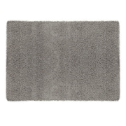 sweet home stores Cozy Shag Machine Woven Mat; Grey