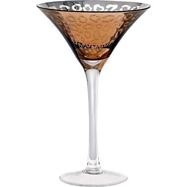 Artland Leopard 8 Oz. Martini Glass (Set of 4); Gold