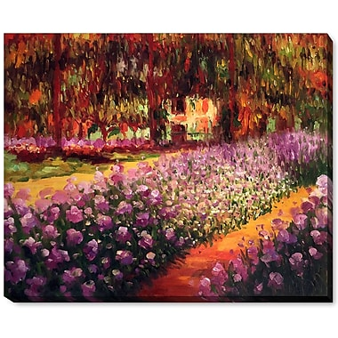Wildon Home Artists Garden at Giverny by Claude Monet Framed Painting
