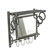 Sagebrook Home Metal Wall Organizer Mirror