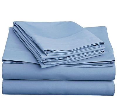 Off To Bed 4 Piece Twin Sheet Set; Serenity Blue WYF078279154236