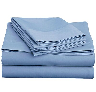 Off To Bed 4 Piece Twin Sheet Set; Serenity Blue