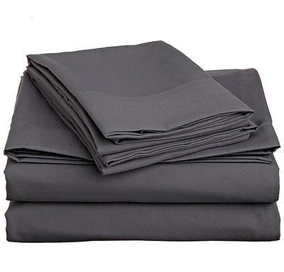 Off To Bed 4 Piece Twin Sheet Set; Grey