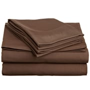 Off To Bed 1500 Thread Count Twin Sheet Set; Dark Brown