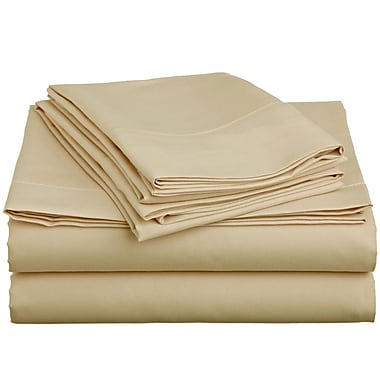 Off To Bed 1500 Thread Count 4 Piece Twin Sheet Set; Beige
