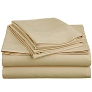 Off To Bed 1500 Thread Count Twin Sheet Set; Beige