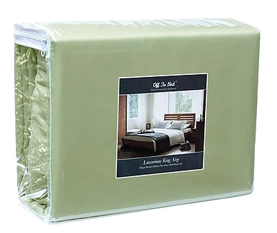 Off To Bed 4 Piece Twin Sheet Set; Sage WYF078279154243