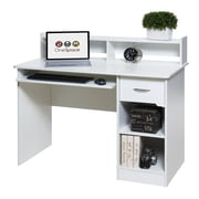 OneSpace Essential Computer Desk w/ Pull-out Keyboard; White