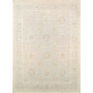 Pasargad Ferehan Hand-Knotted Silver Area Rug