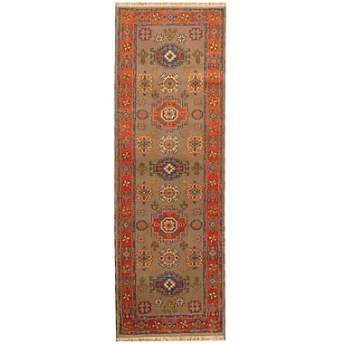 Herat Oriental Kazak Hand-Knotted Gray/Orange Area Rug