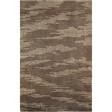 Pasargad Moroccan Hand-Knotted Brown Area Rug