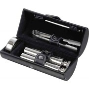 Visol Products Venture Leather Drinking Travel Gift Set
