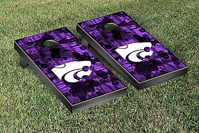 Victory Tailgate NCAA FIght Song Version Cornhole Game Set; Kansas State K State Wildcats WYF078278339250