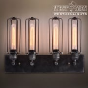 Westmen Lights 4-Light Metal Cage Bath Wall Sconce