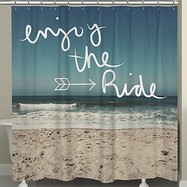 LauralHome Enjoy the Ride Shower Curtain