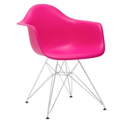 Edgemod Padget Arm Chair; Fuchsia