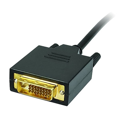 SIIG® CB-DP1A11-S2 10' DisplayPort - DVI Converter Cable, Black