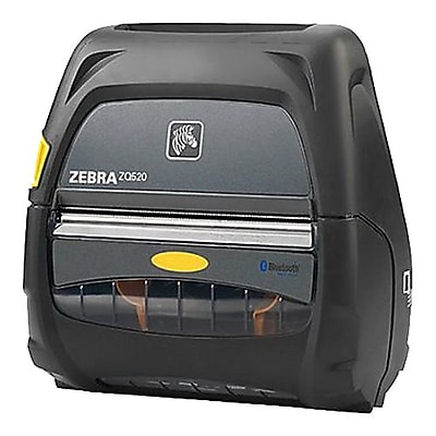 Zebra® ZQ520 Monochrome Direct Thermal Mobile Printer, 230 dpi, Black/Gray (ZQ52-AUE0010-00)