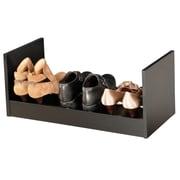 Venture Horizon 1-Tier 3 Pair Stackable Shoe Rack; Black
