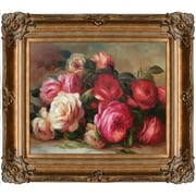 Tori Home Discarded Roses by Pierre-Auguste Renoir Framed Painting