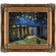 Tori Home Starry Night Over The Rhone by Vincent Van Gogh Framed Painting Print