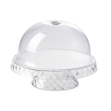 Lorren Home Trends Omada Domed Cake Serving Tray; White