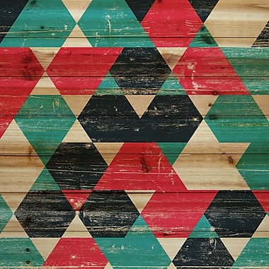 Marmont Hill 'Splashing Red' Painting Print on Natural Pine Wood; 24'' H x 24'' W x 1.5'' D
