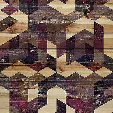 Marmont Hill 'Connecting Blocks' Painting Print on Natural Pine Wood; 32'' H x 32'' W