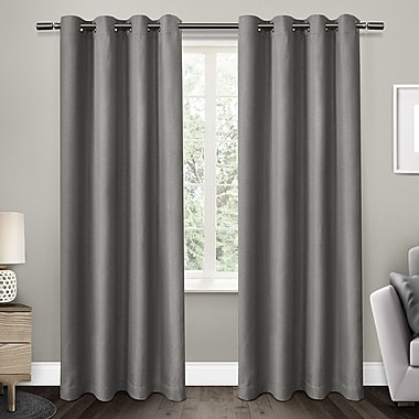 Amalgamated Textiles Eglinton Blackout Thermal Curtain Panels (Set of 2); Black Pearl