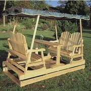 Rustic Cedar Deluxe Cedar Garden Glider; Jacquard
