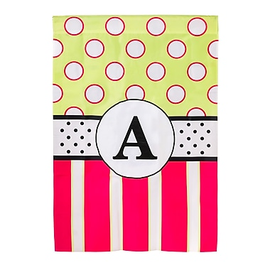 Evergreen Enterprises, Inc New Baskerville Peppy Monogram Vertical Flag; K