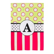 Evergreen Enterprises, Inc New Baskerville Peppy Monogram Vertical Flag; H