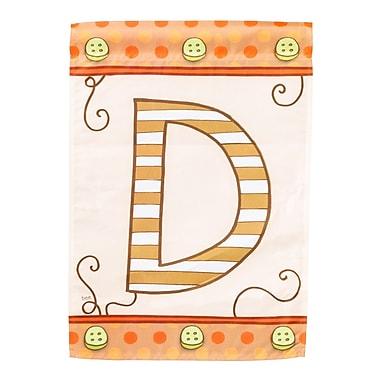 Evergreen Enterprises, Inc Mix & Match Monogram 2-Sided Garden Flag; D