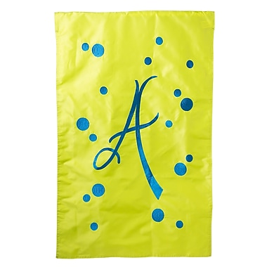 Evergreen Enterprises, Inc Polka Dot Initial Garden Flag; U